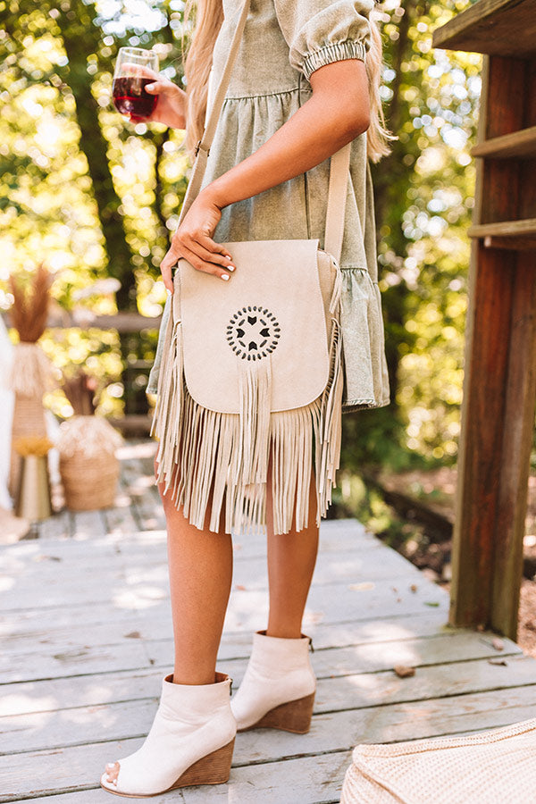 Style Bandit Leather Crossbody In Stone