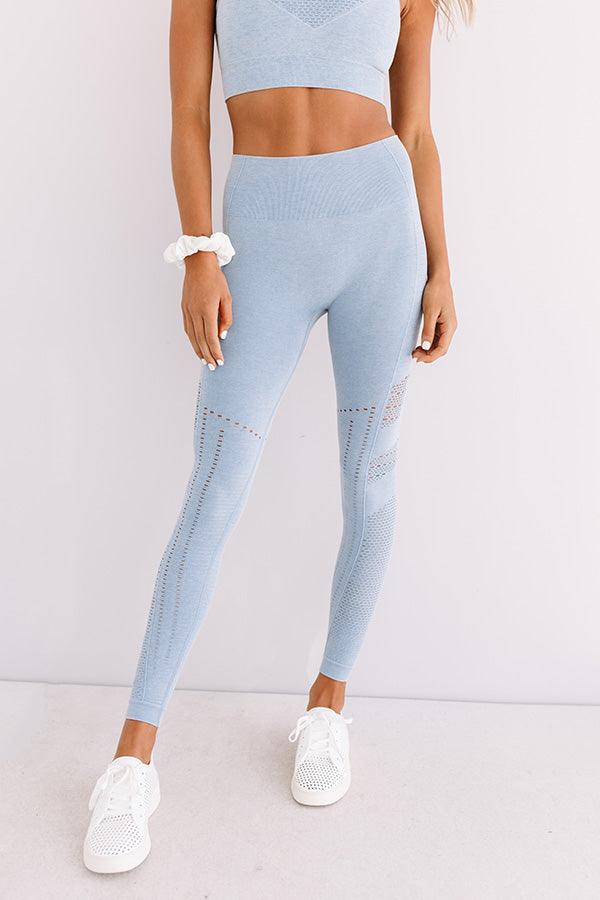 Recipe For Success High Waist Active Crop Legging In Airy Blue