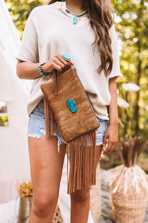 The Mae Leather Clutch