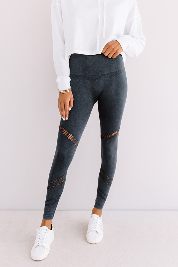Honor Roll High Waist Legging In Navy