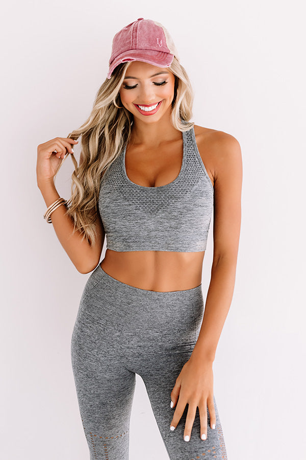 Recipe For Success Sports Bra In Dark Grey