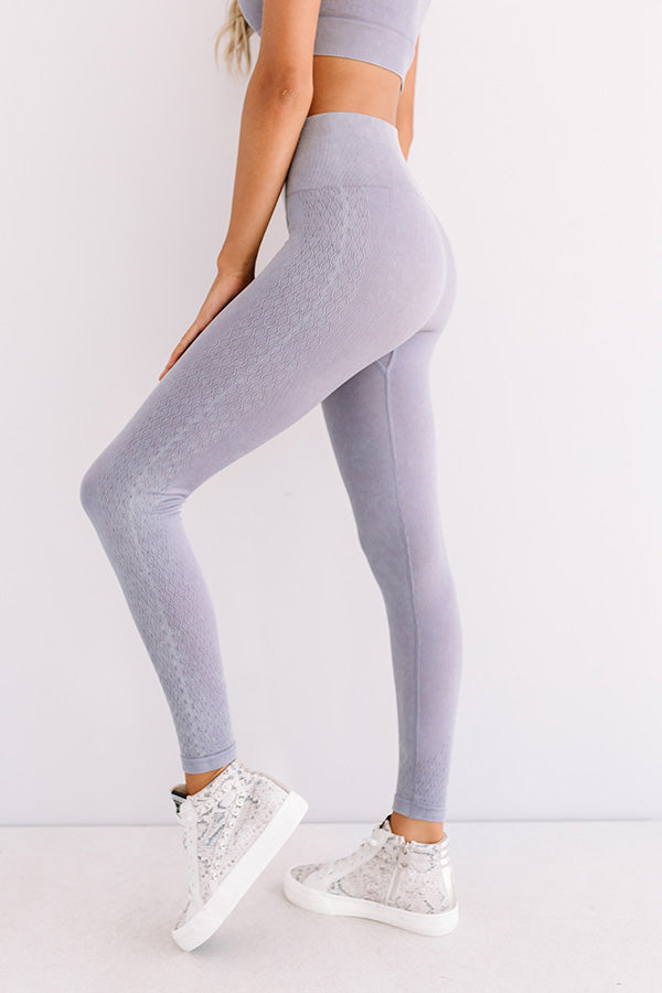 Quiet Meditation High Waist Active Legging In Heirloom Lilac