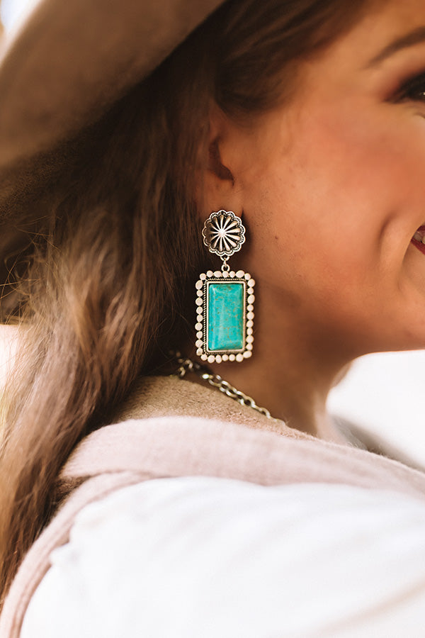 Downtime Turquoise Earrings