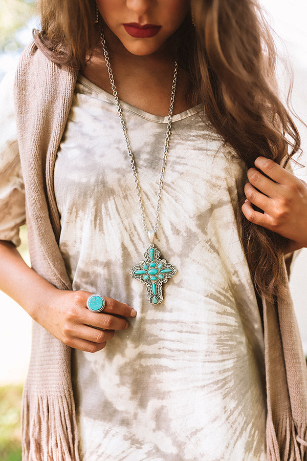Simply Obsessed Turquoise Necklace