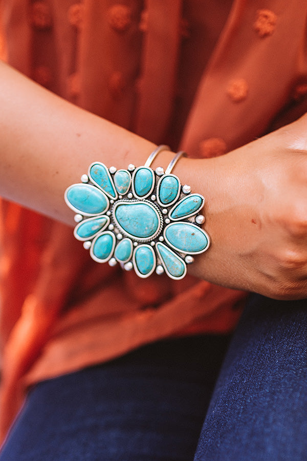 Refined Feelings Turquoise Cuff Bracelet