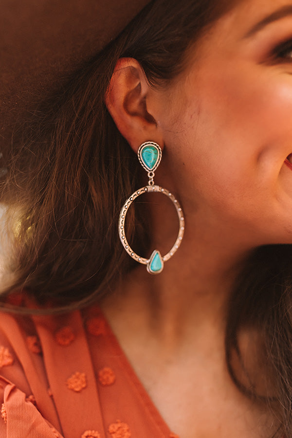 Botanical Brunch Turquoise Earrings