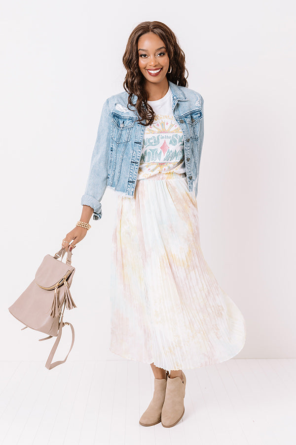 Brunch In Paris Watercolor Skirt
