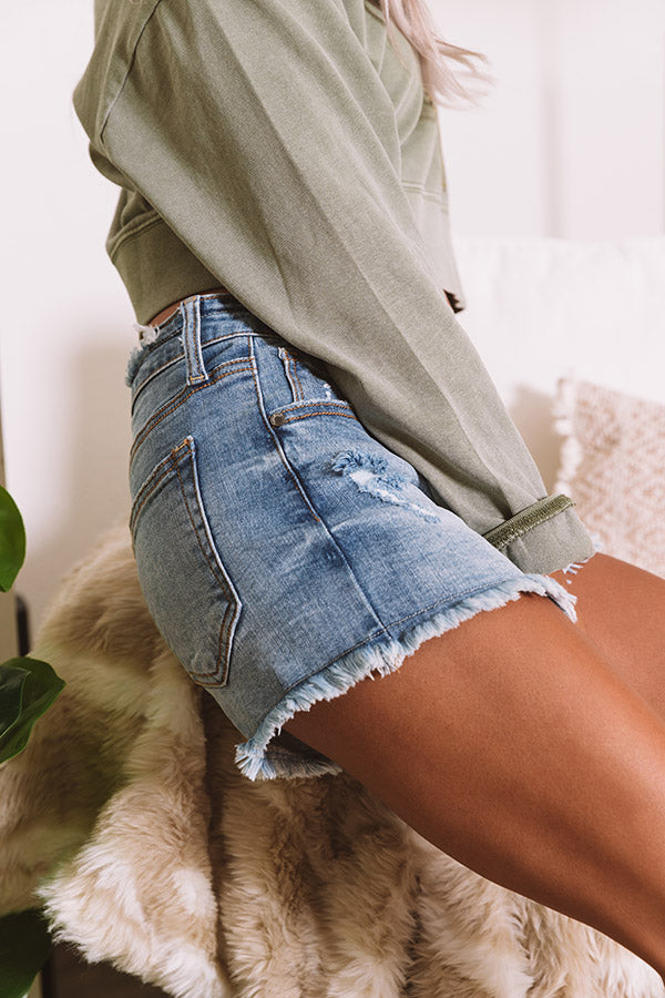 The Joss Midrise Distressed Shorts