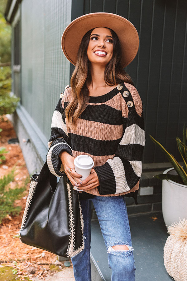 Pumpkin Spice Bliss Knit Sweater