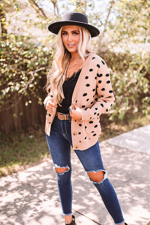 Outfit On Repeat Cardigan In Khaki