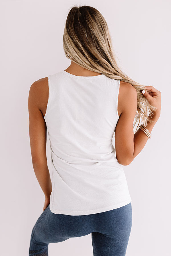 Favorite View Distressed Tank In Stone