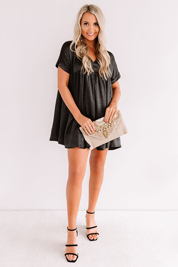 Stolen Hearts Babydoll Dress In Black