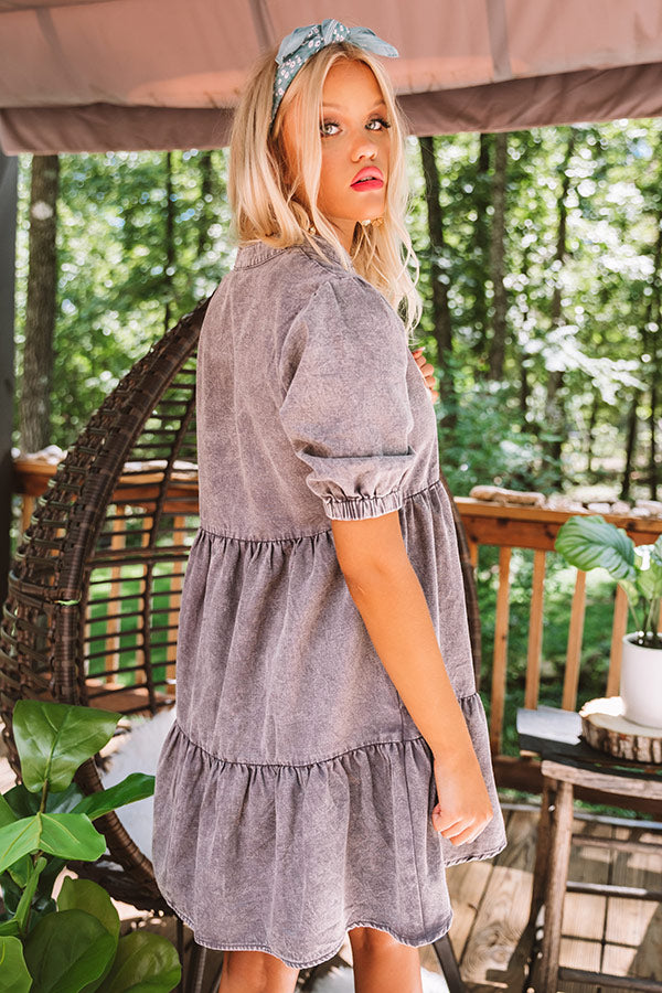Taking The Scenic Route Babydoll Dress In Heirloom Lilac