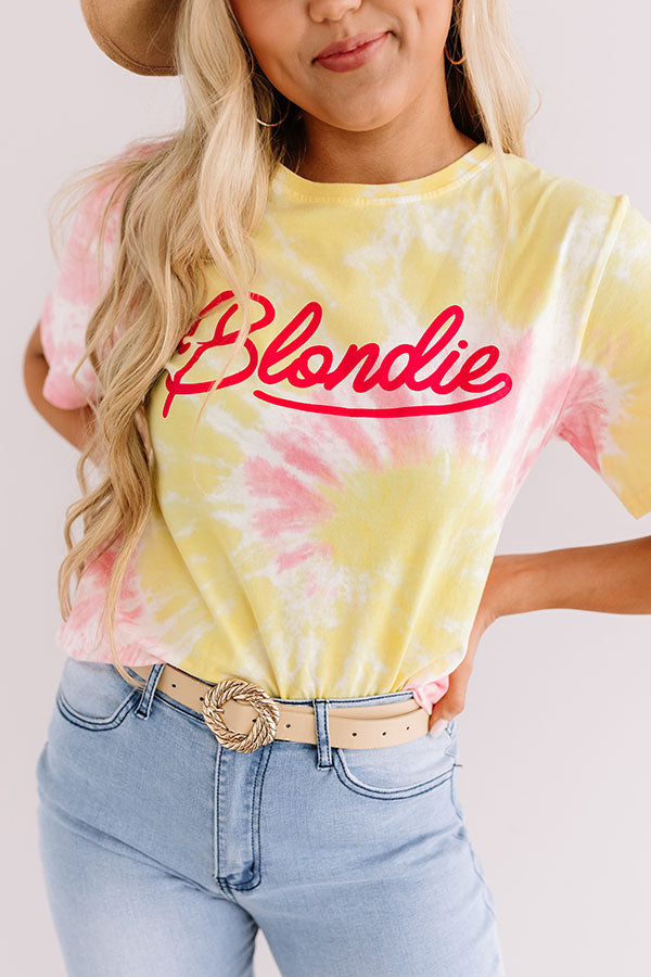 Blondie Tie Dye Tee In Yellow