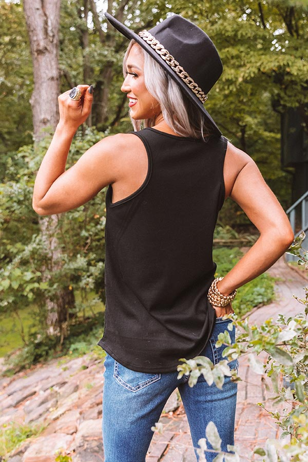 Sunny And 75 Ribbed Tank In Black