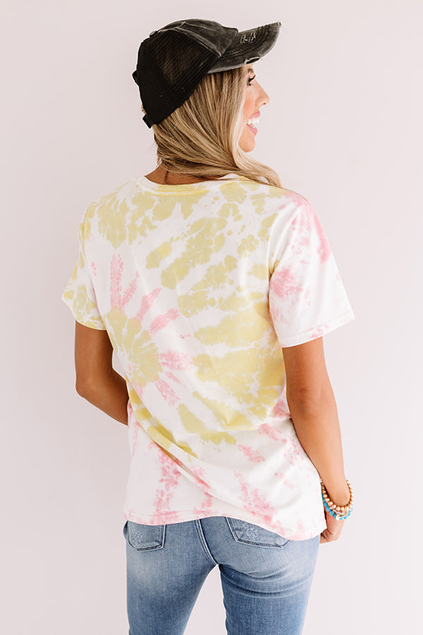 Rock And Roll Tiger Tie Dye Tee In Yellow