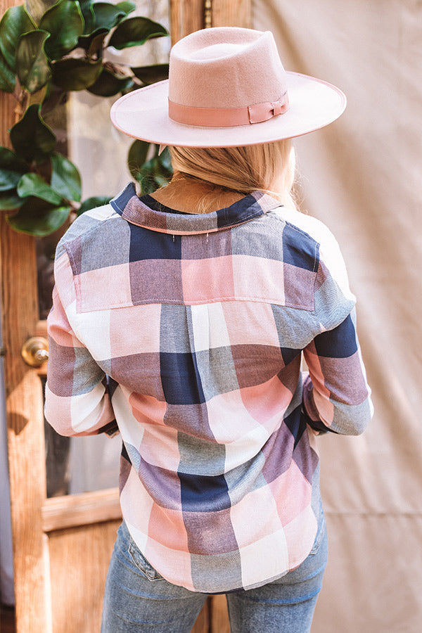 Plaid Perfection Button Up Top