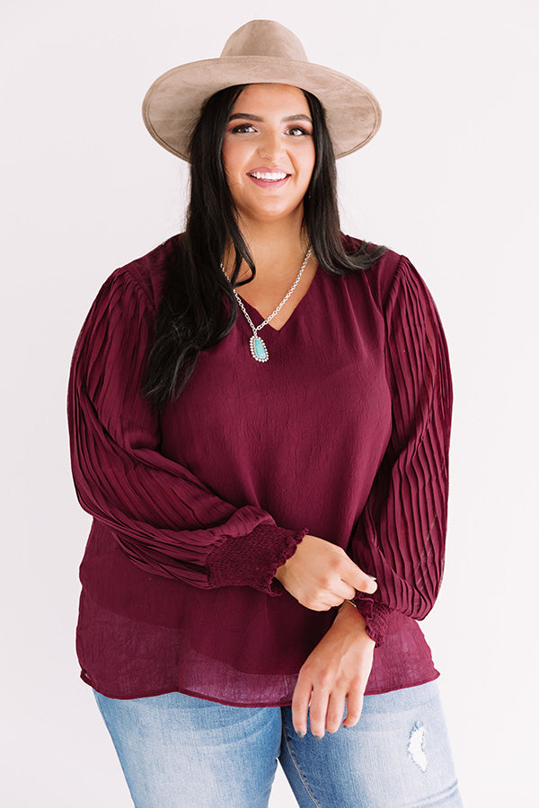 Sparks And Kisses Shift Top In Wine
