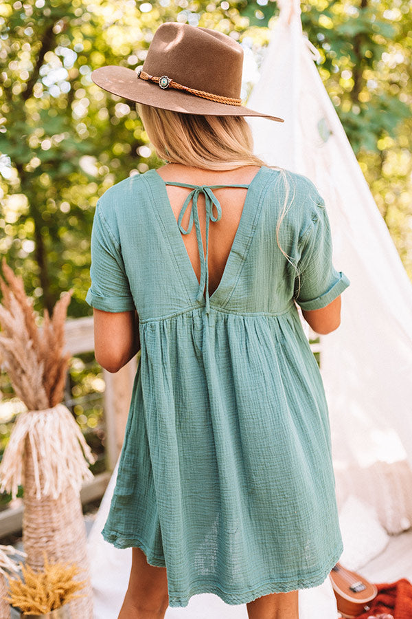 Truly Tempting Babydoll Dress In Green