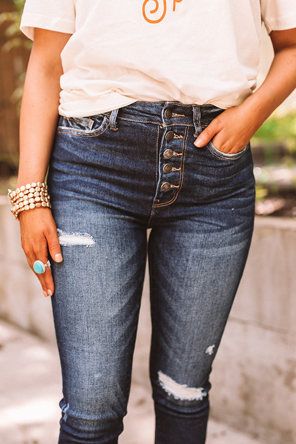 The Amberlin High Waist Distressed Skinny