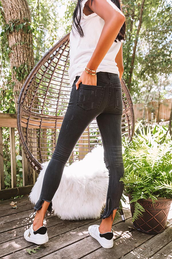 The Elly Midrise Distressed Ankle Skinny