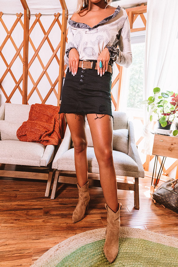 The Lynda Distressed Skirt