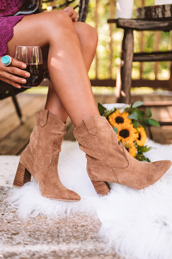 The Valley Faux Suede Ankle Bootie