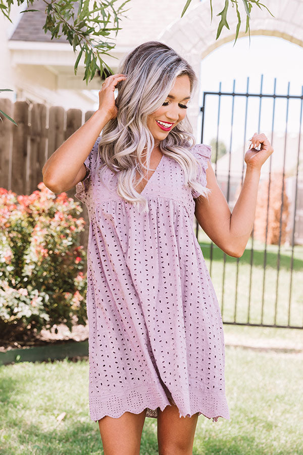 Sway Into Style Eyelet Romper In Light Purple
