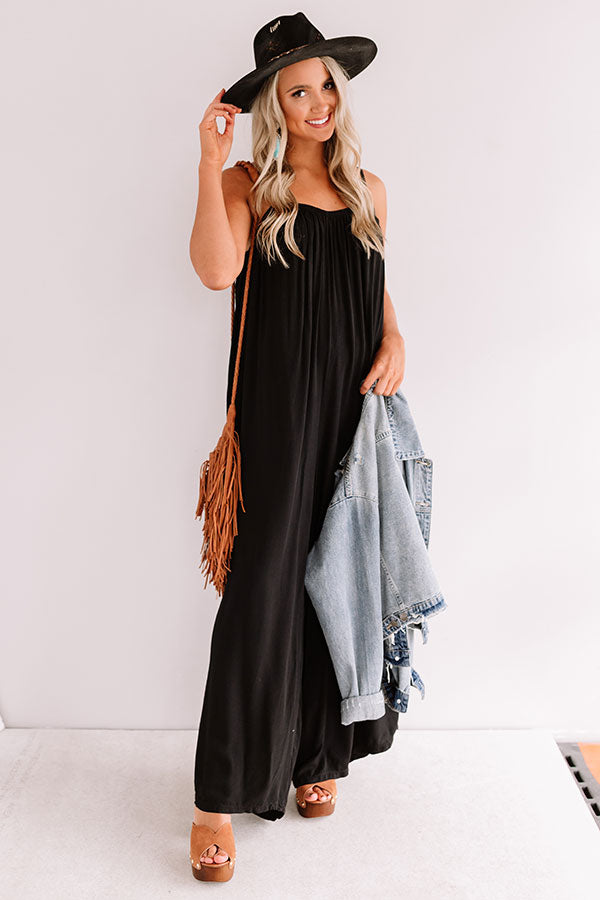 First Dance Flutters Jumpsuit In Black