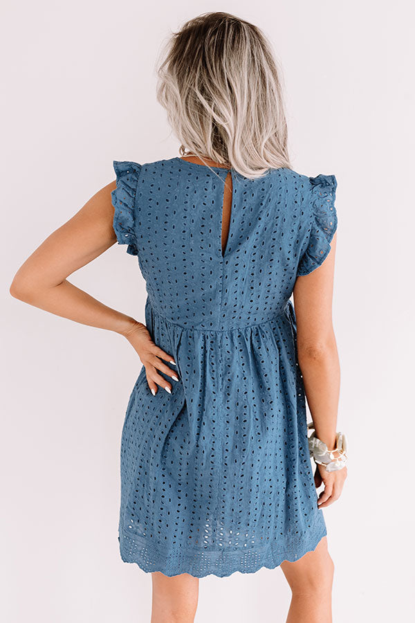 Sway Into Style Eyelet Romper In Blue
