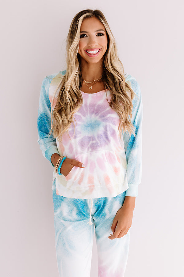 Chill With Me Tie Dye Hoodie