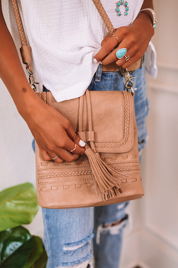 Tribeca Treat Faux Leather Crossbody In Iced Mocha