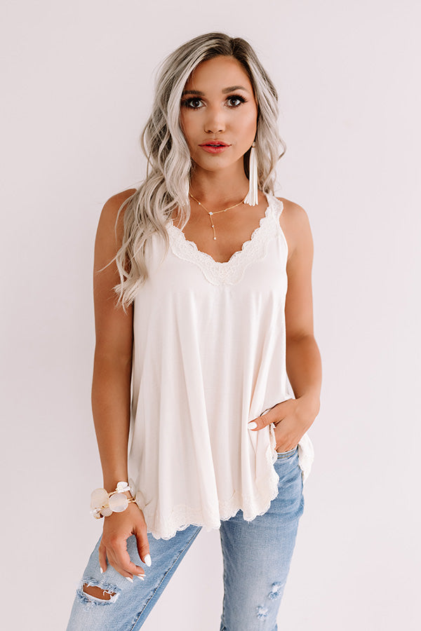 Effortless Attraction Shift Tank In Cream