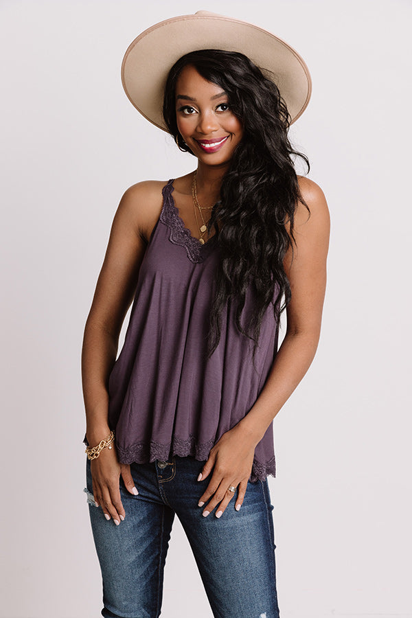 Effortless Attraction Shift Tank In Royal Plum