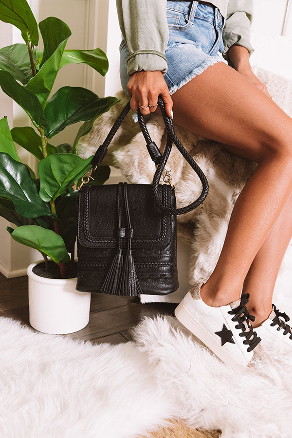 Tribeca Treat Faux Leather Crossbody In Black
