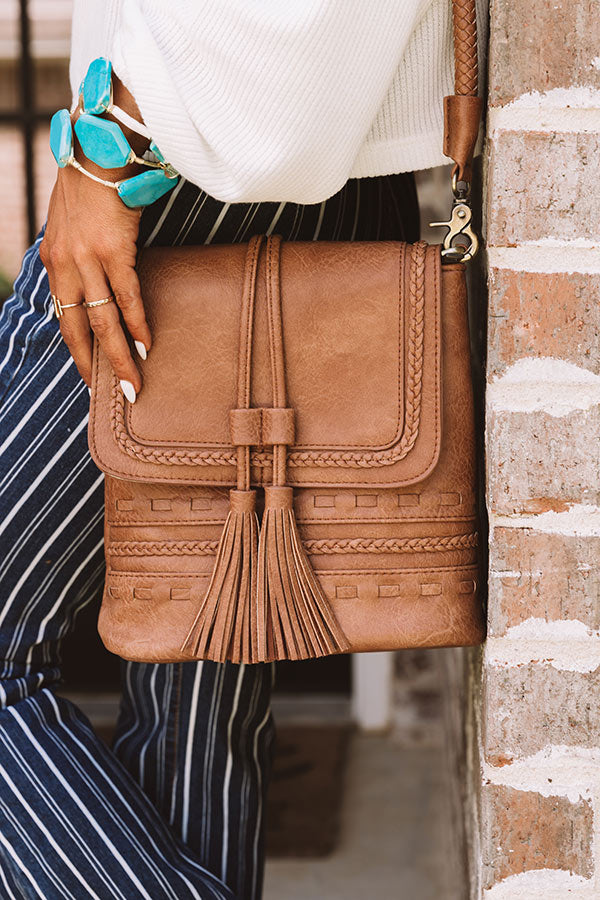 Tribeca Treat Faux Leather Crossbody In Brown