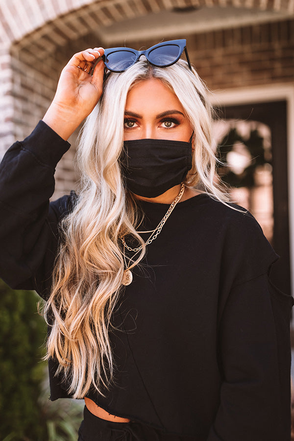 Pretty Style Cloth Face Mask In Black