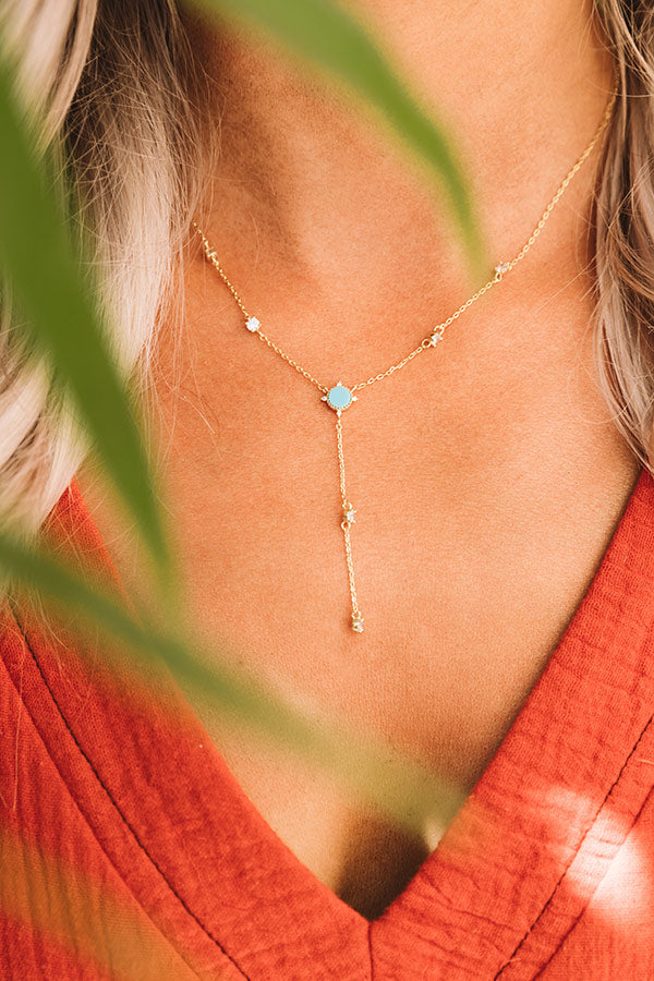 Casual Occasion Necklace In Turquoise