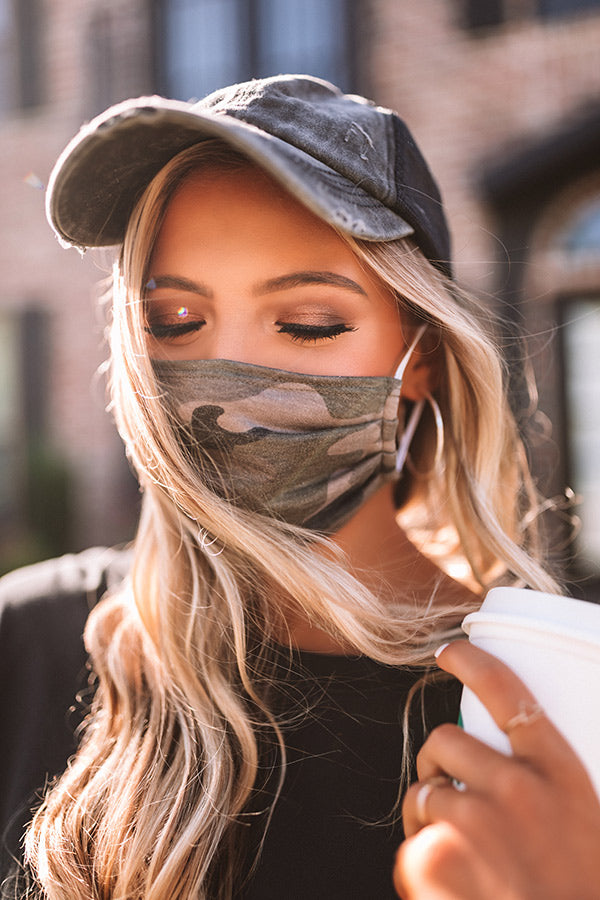 Pretty Style Cloth Face Mask In Camo