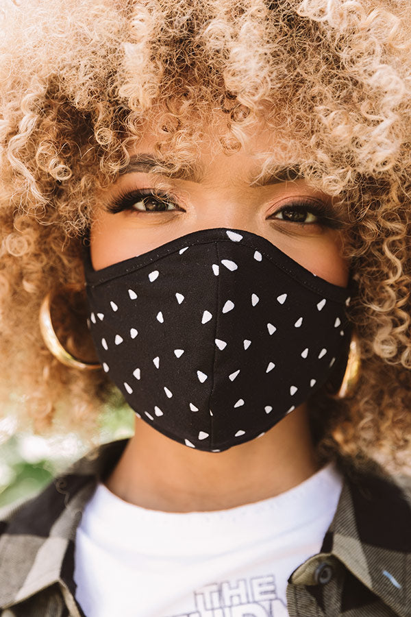 Solo Trip Cloth Face Mask In Black
