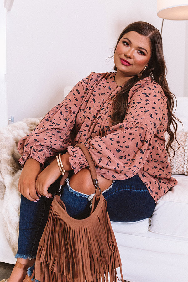 Love In Tribeca Shift Top In Rustic Rose