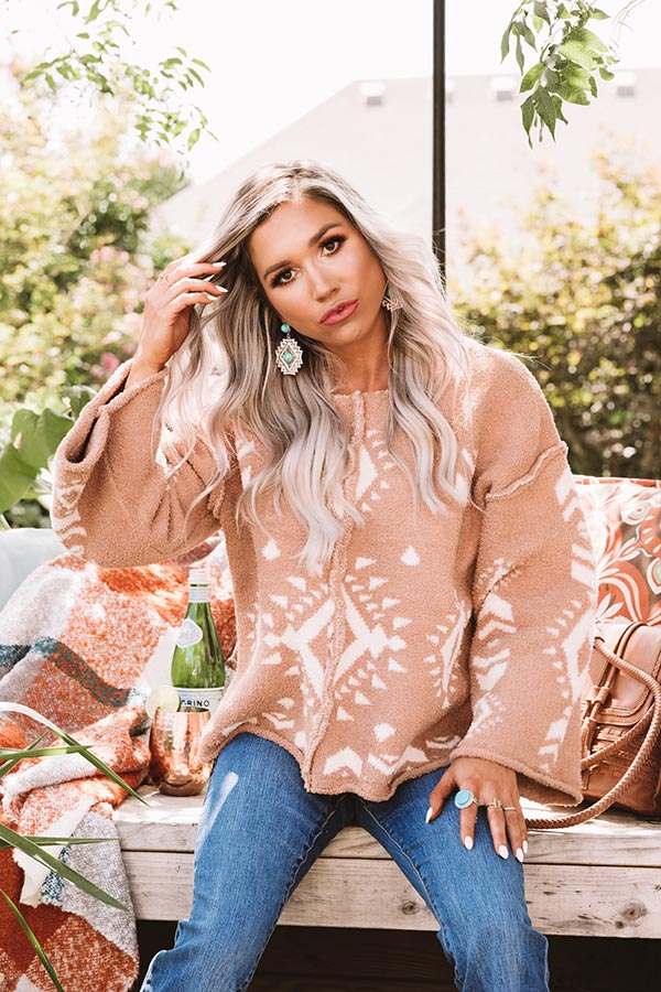 Never Gonna Get Me Down Sweater In Mocha