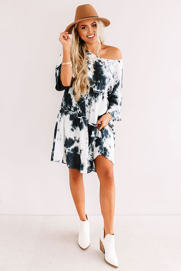 Living In The Moment Tie Dye Babydoll Dress
