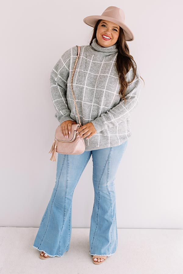 A Latte Love Sweater In Grey