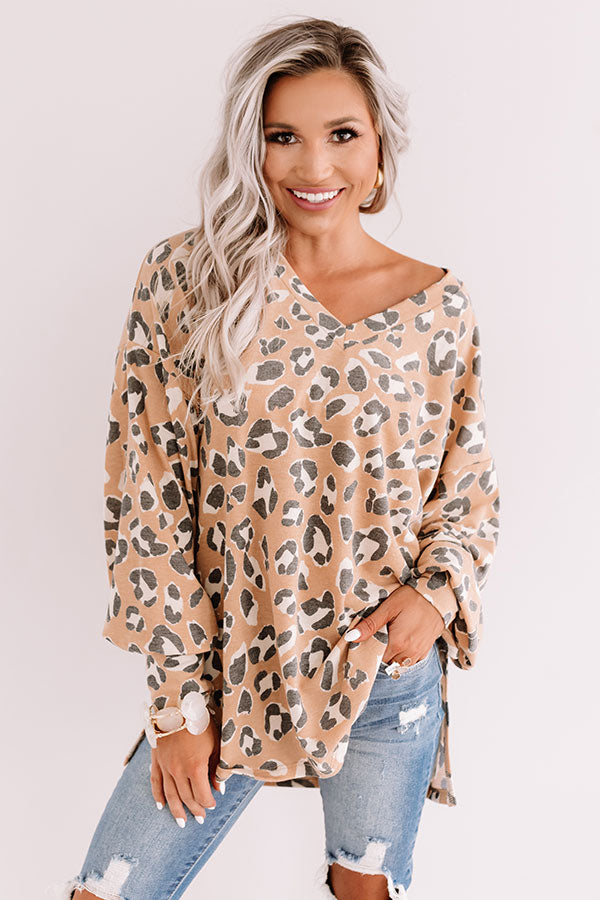Sweeter Than Honey Leopard Shift Top