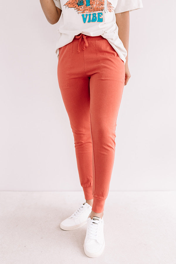 Places To Be Joggers In Tangerine