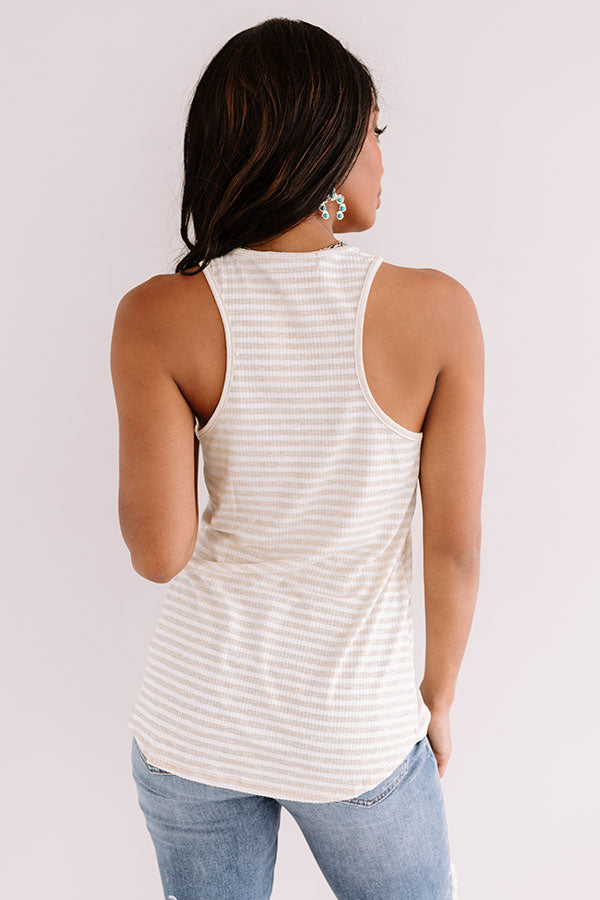 Back Together Stripe Tank In Primrose Yellow