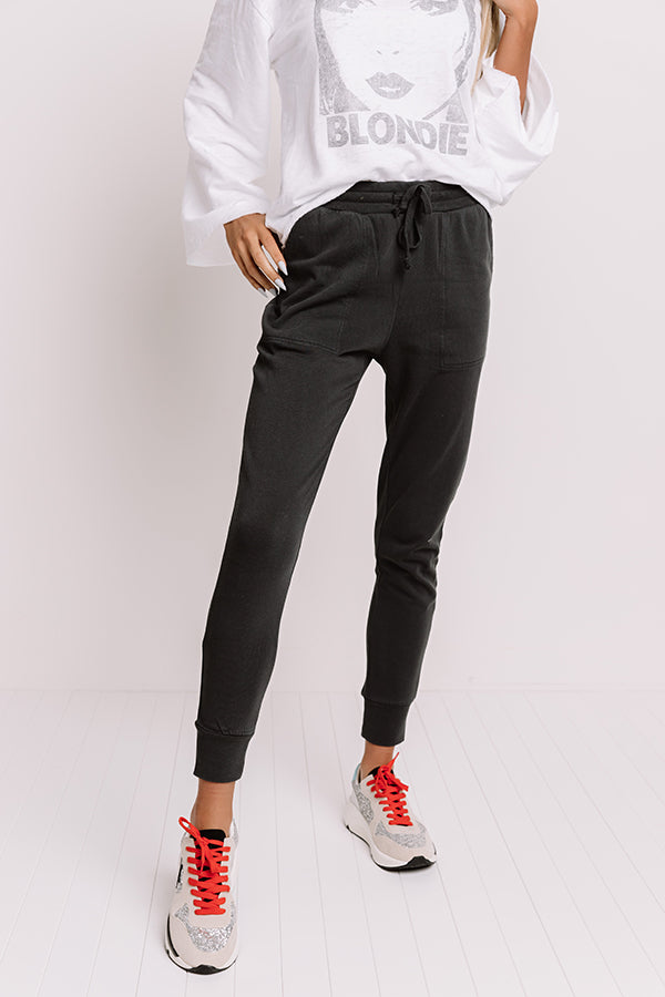 Places To Be Joggers In Black