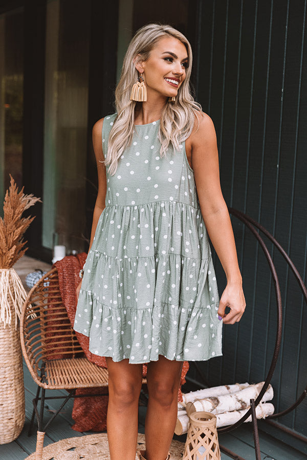 Chic Supply Shift Dress in Sage
