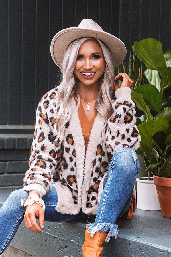 Fawning Over You Ultra Soft Leopard Cardigan In Brown
